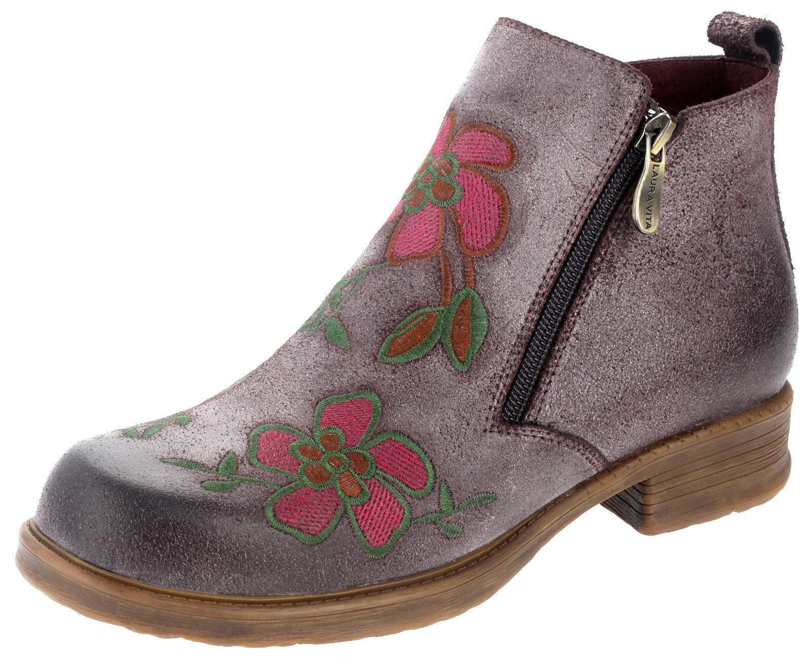 ea154e2e00dd23 Laura Vita Damen Boots Leder Stiefeletten kleiner Absatz anita 02 chocolat  braun