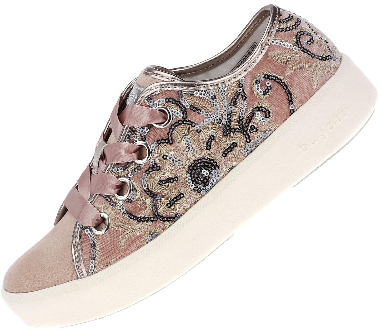 Bugatti Textil Fashion Sneaker, rosa Textil Sportlicher