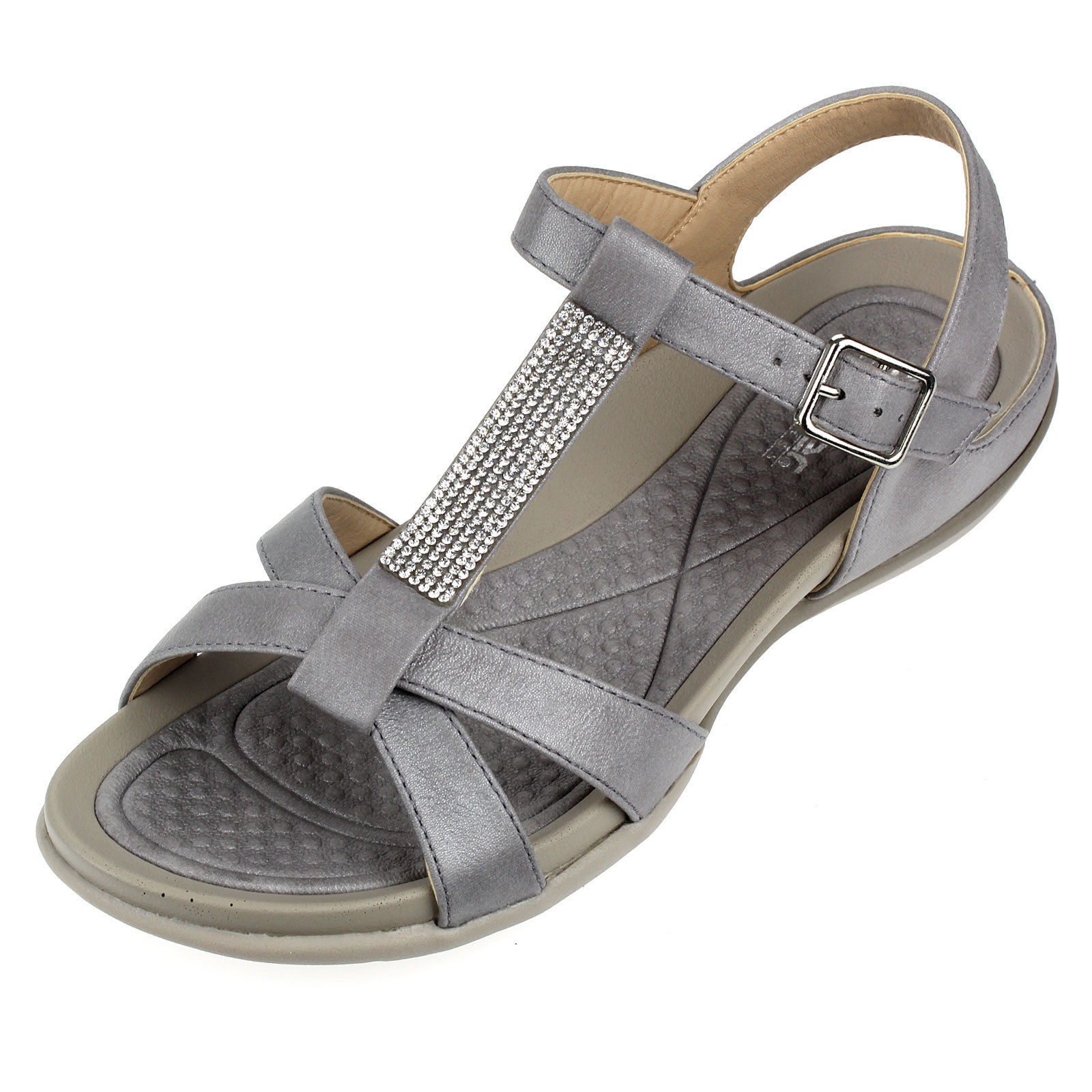 Details zu Rieker Damenschuhe Sandalen Freizeit Sommer Schuhe V9463 42