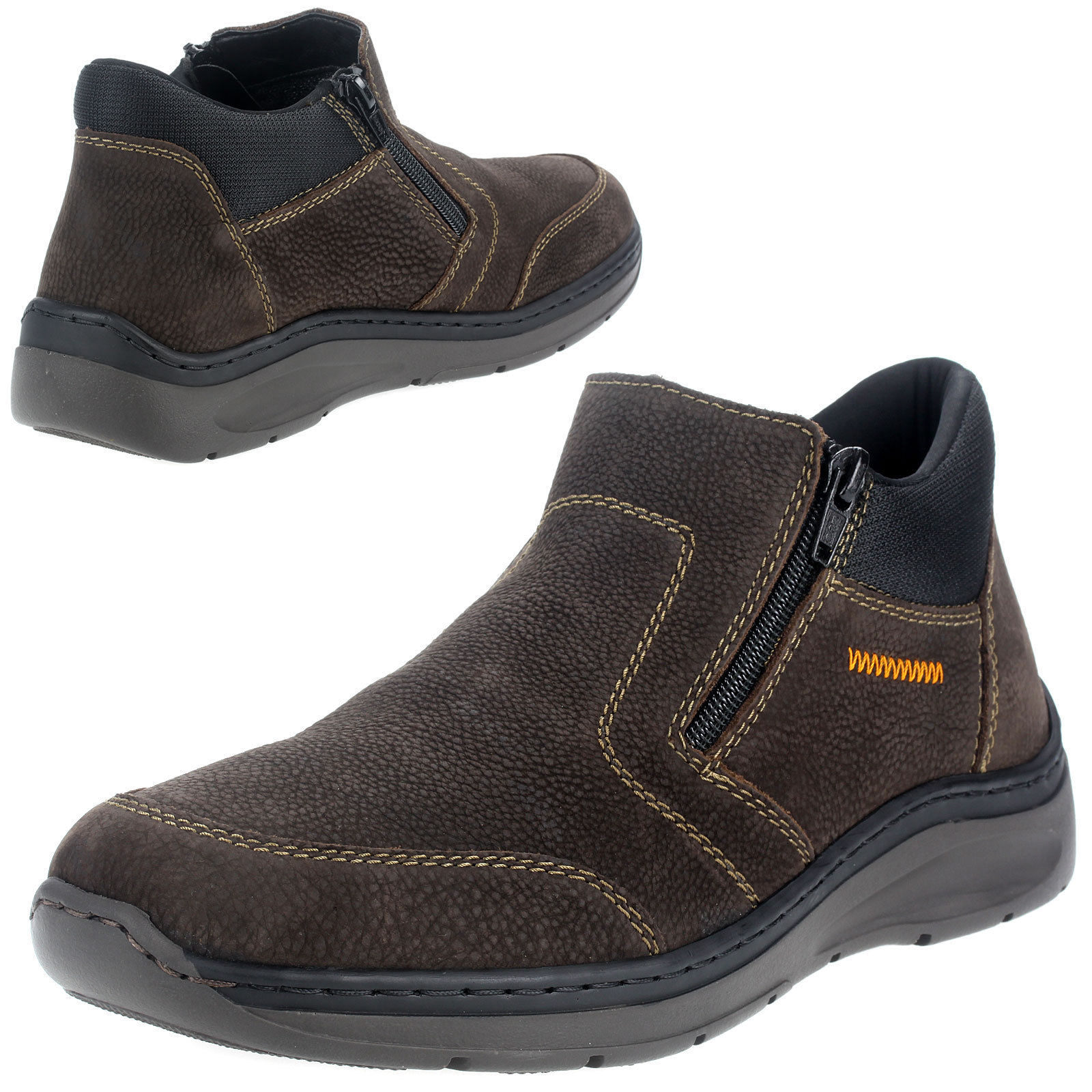 Details about Rieker Men's Shoes Boots Comfort Extra Wide Men's Shoes B895325 Brown