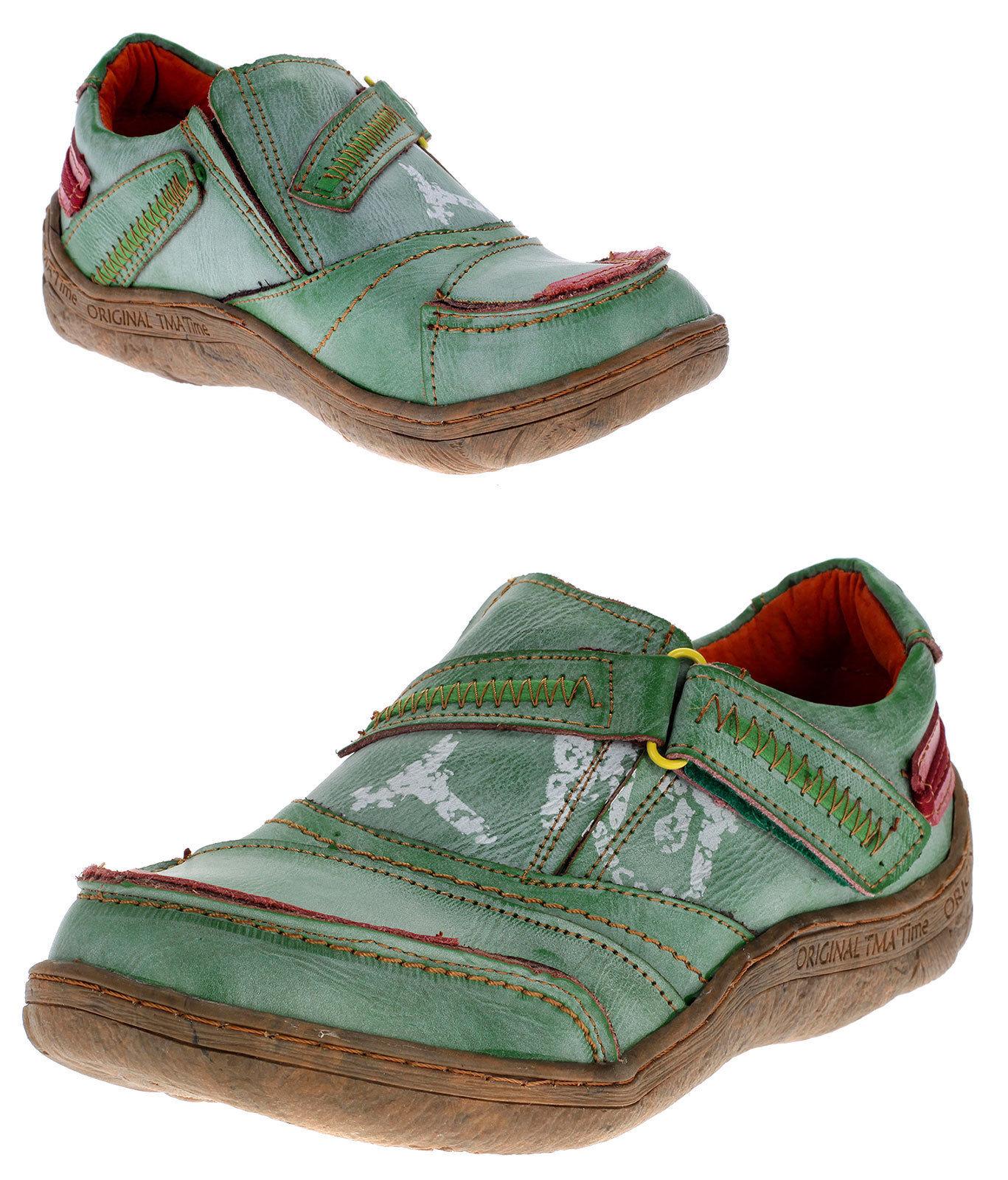 TMA Damen Leder Schuhe Halbschuhe Slipper Comfort Freizeitschuhe 1901 Gr 37