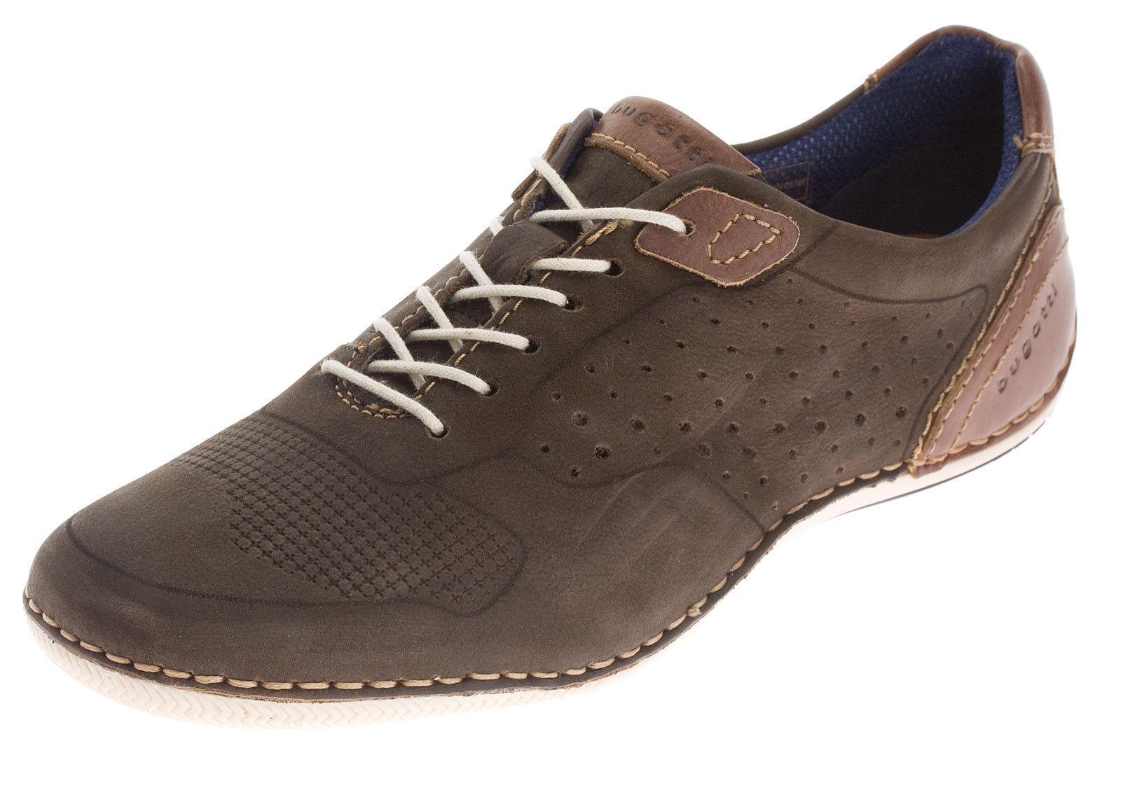 Details zu Bugatti Halbschuhe Sneaker Herrenschuhe Leder Schnürer Freizeit Schuhe Gr.44