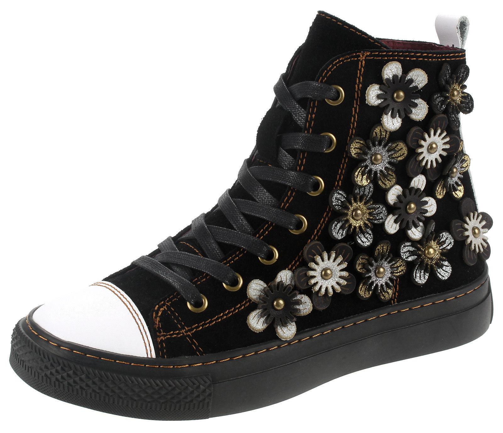 445851d22393ed Laura Vita Damen Leder High-Top Sneaker Stiefeletten Boots EVELYNE-02 Blanc