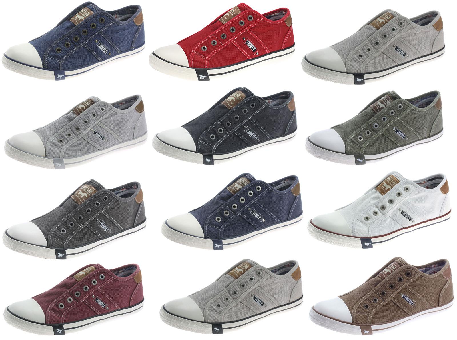 Details zu MUSTANG Sneaker Slipper Herrenschuhe Halbschuhe Canvas Jeans Schuhe 4058401
