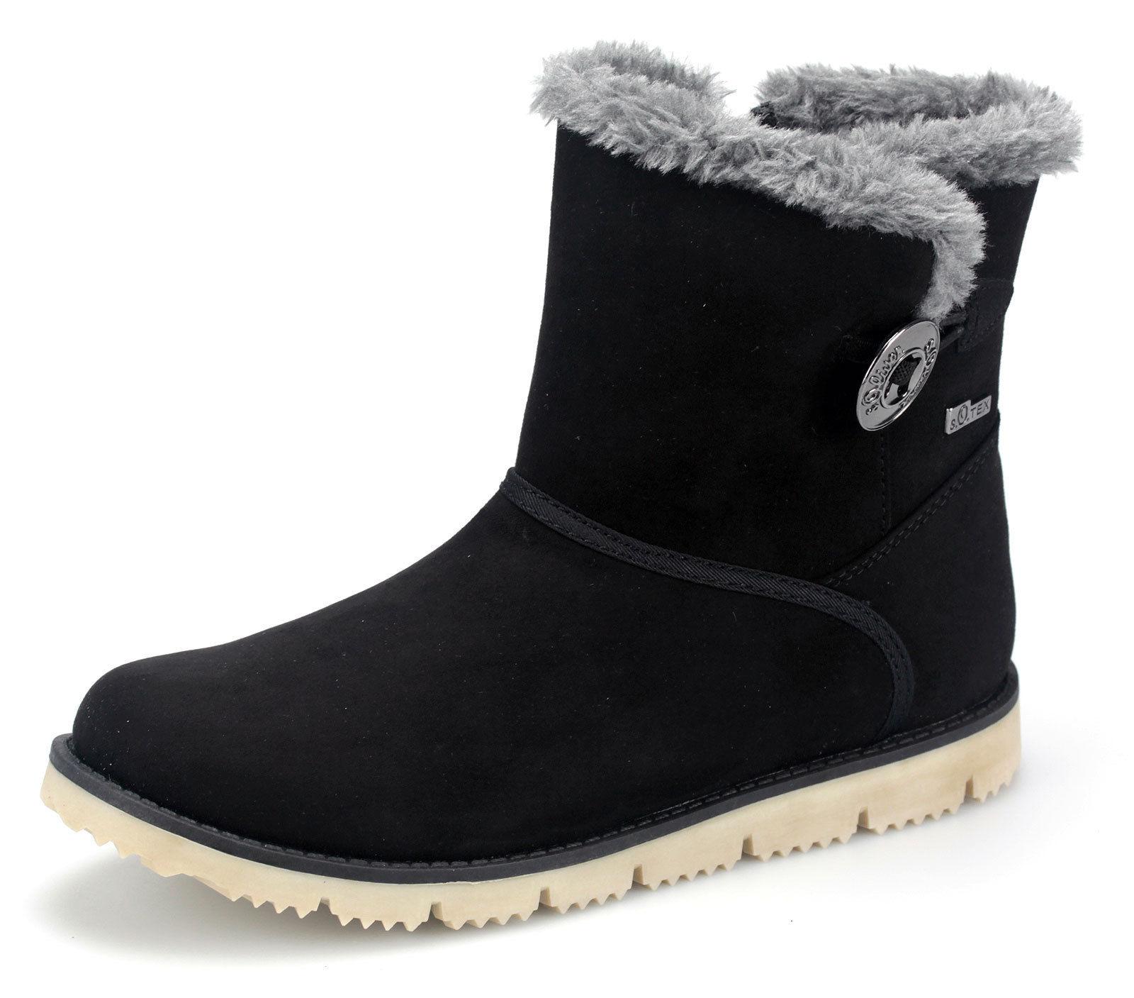 info for 0860b 917bb Détails sur S. Oliver Filles Bottines Enfants Boots Doublure Hiver  Chaussures 56404 Noir- afficher le titre d'origine