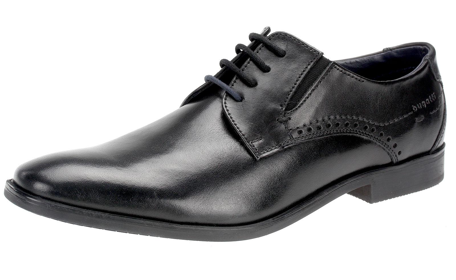 new concept 8ef84 31c43 Details zu Bugatti Business Schuhe Herren Leder Halbschuhe Schnürschuhe  Derby R0208 Schwarz