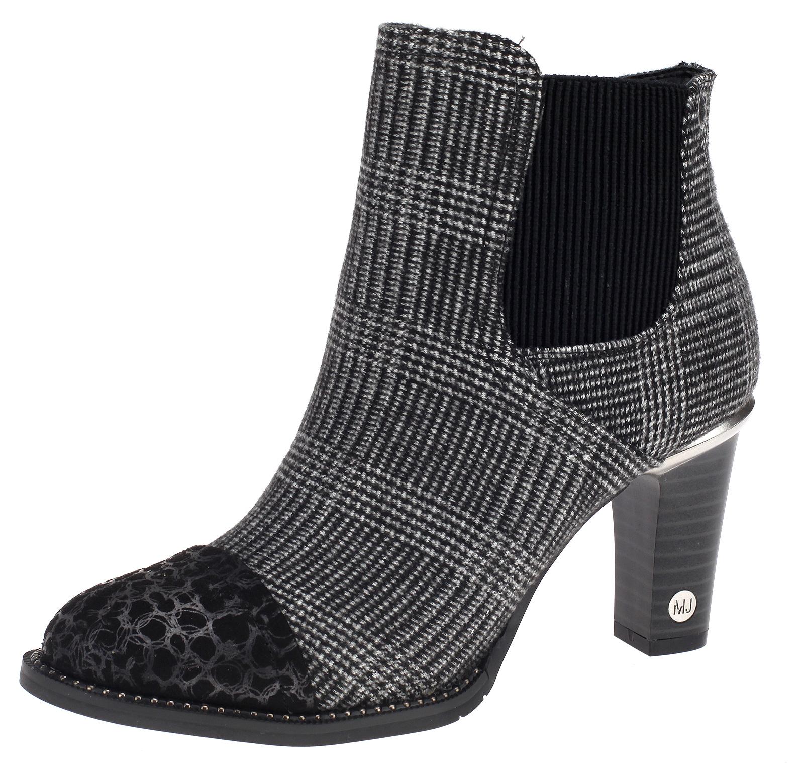 8aaa92476de5 Details zu Mustang Damen Stiefeletten Stiefel Boots Schuhe 1335-523-92  schwarz grau