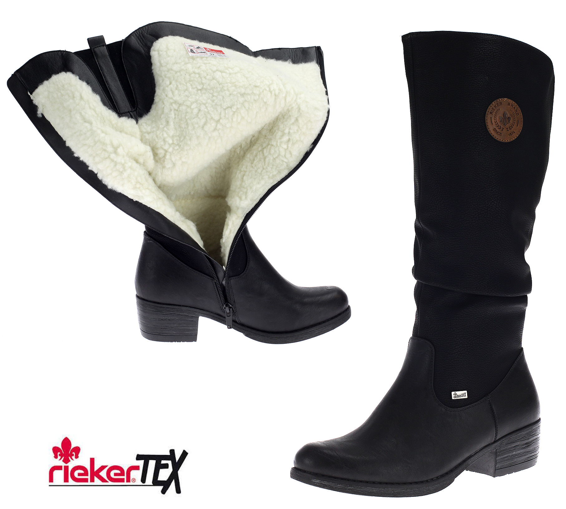 Details about Rieker Tex Women's Boots Winter Boots Warm Padding Shoes Black 93157 00 New