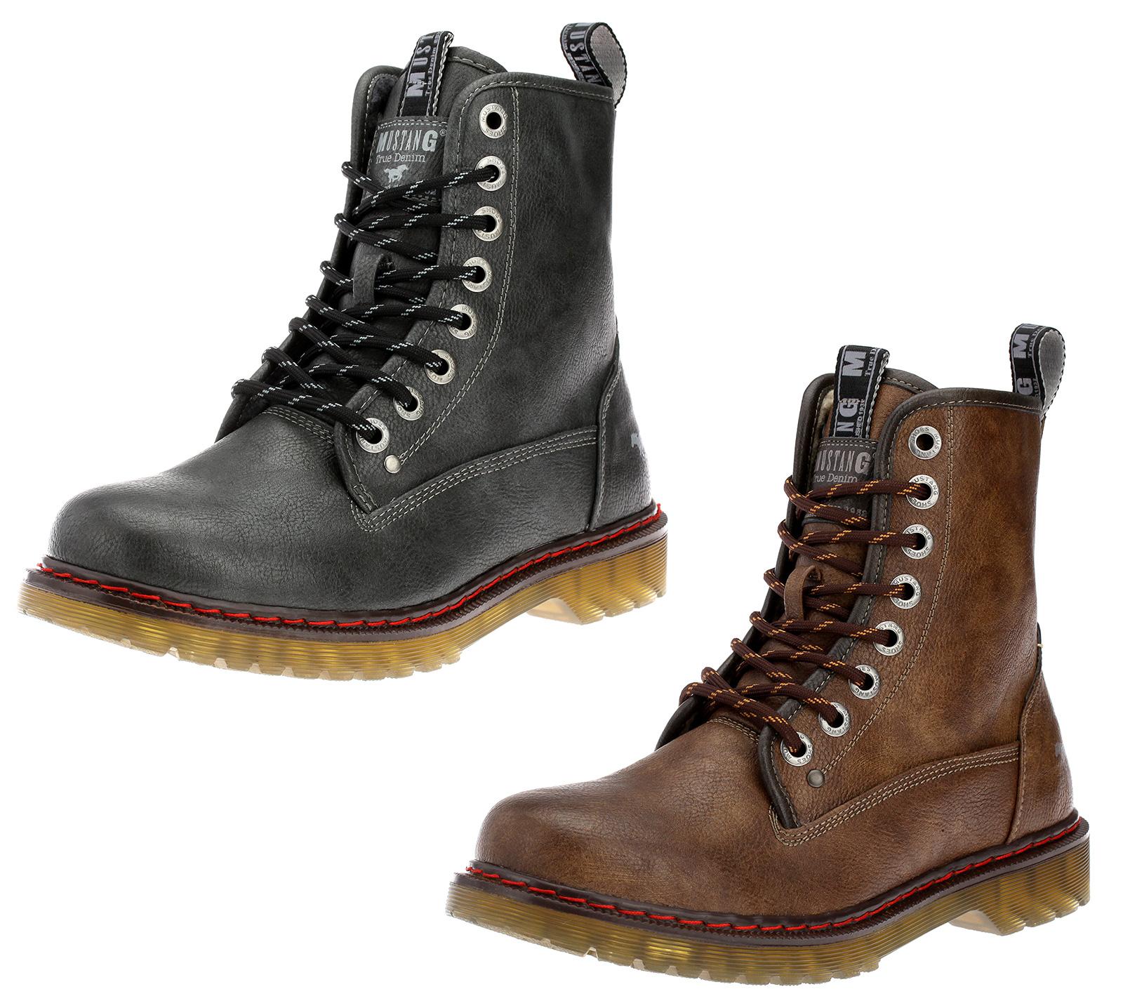 Neu MUSTANG Herrenschuhe Stiefel Herrenstiefel Boots Stiefeletten Schuhe Braun