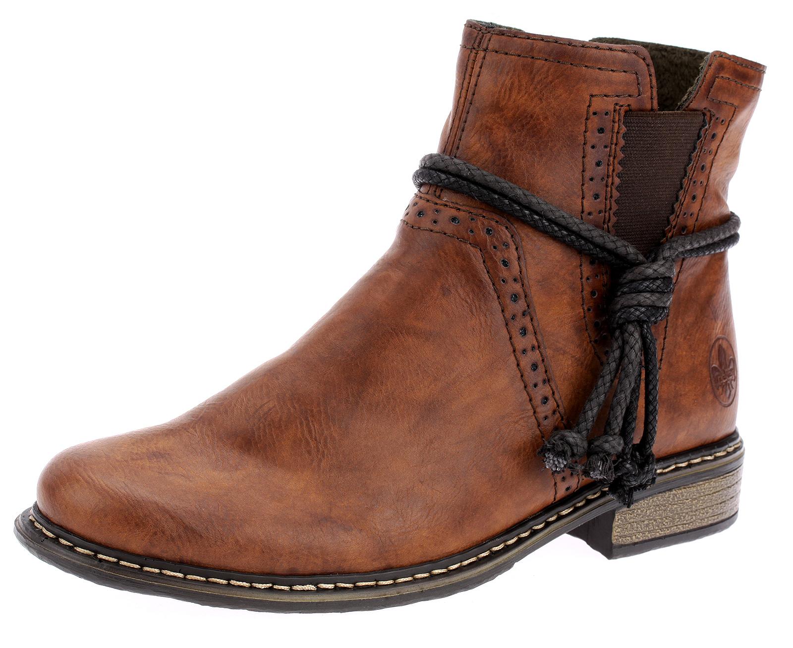 Rieker Damen Stiefeletten Boots Stiefel Chelsea Braun Booty 1g5dQ